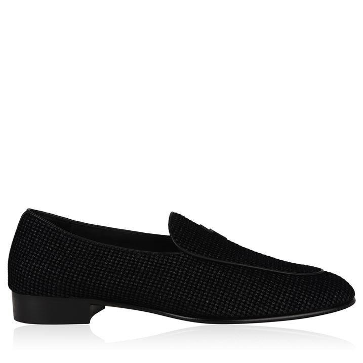 G Flash Glitter Velvet Loafers