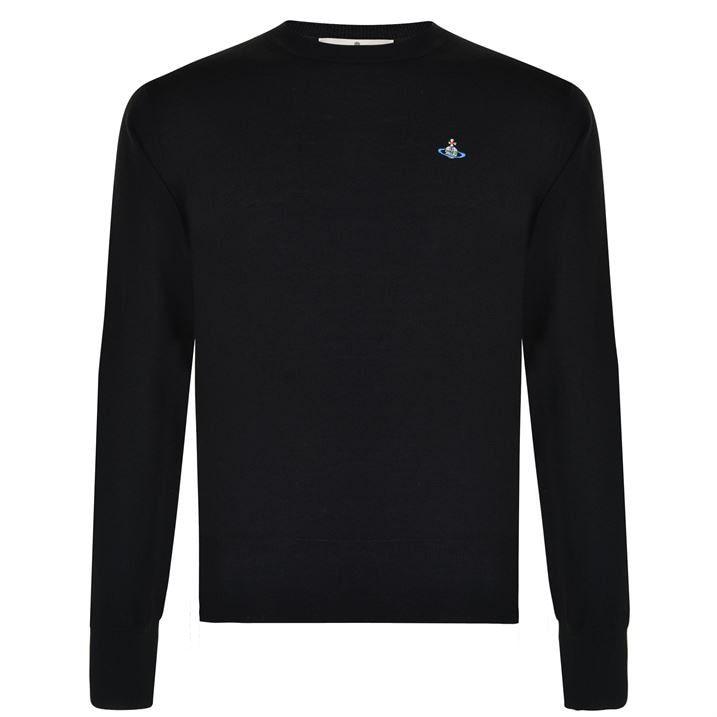 Embroidered Orb Knit Sweatshirt