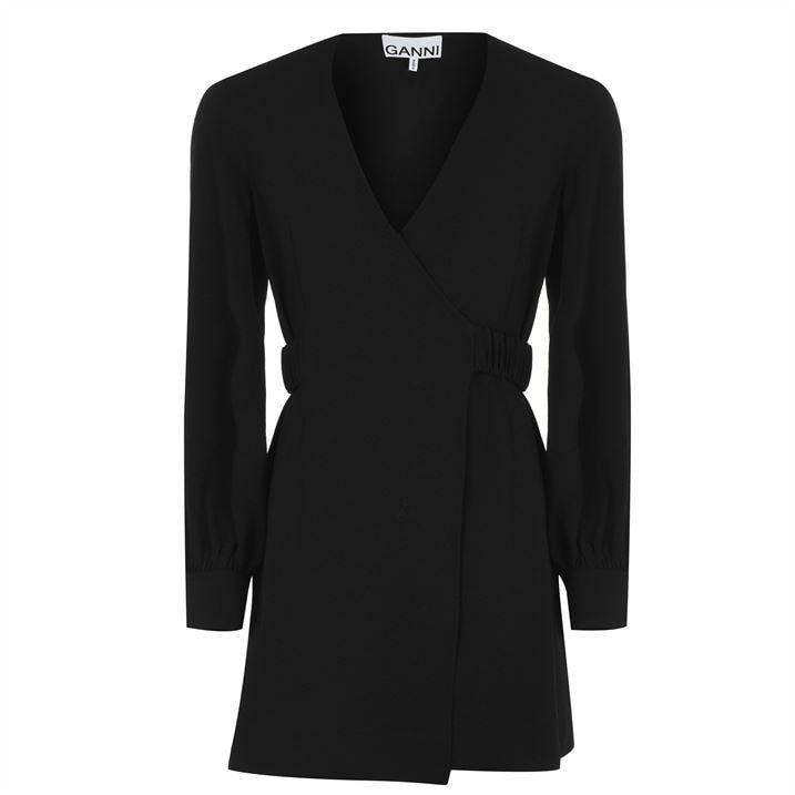 Crepe Black Dress