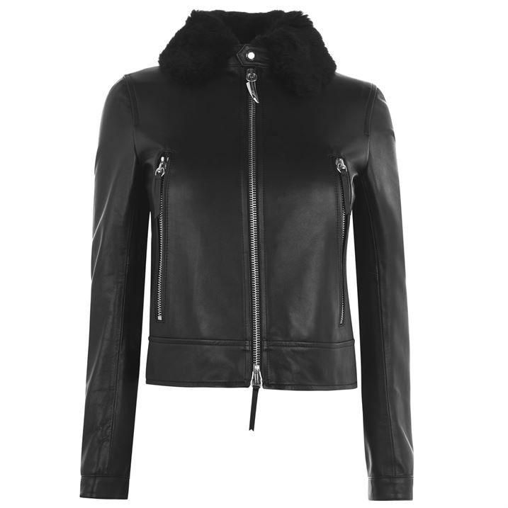 Abbigliamento Lined Leather Jacket