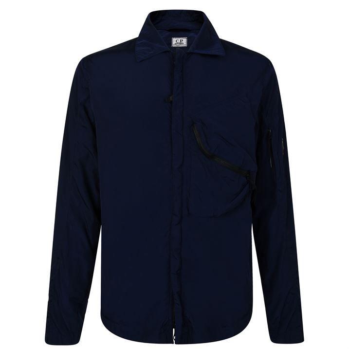 Micro Lens Overshirt Jacket
