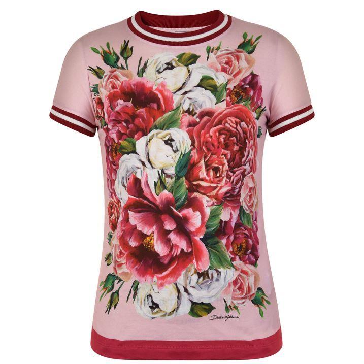 Children Girls Rib Peony T Shirt