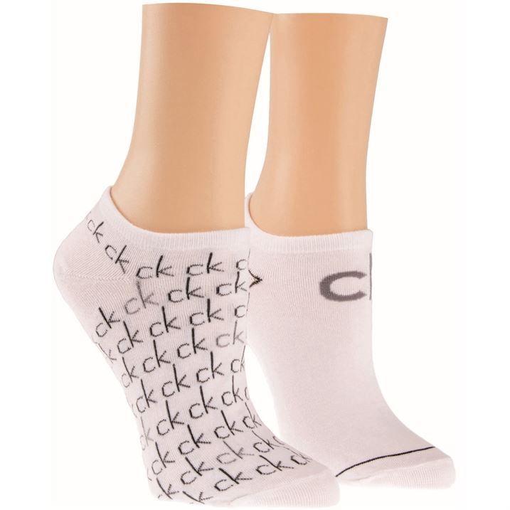 logo 2 pair pack trainer socks