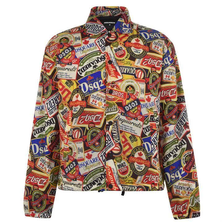 Beer Print Coach Jacket