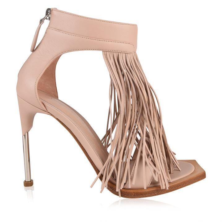 Fringe Heeled Sandals