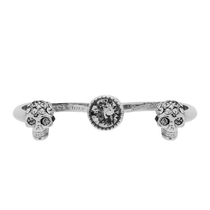 Double Mini Skull Ring