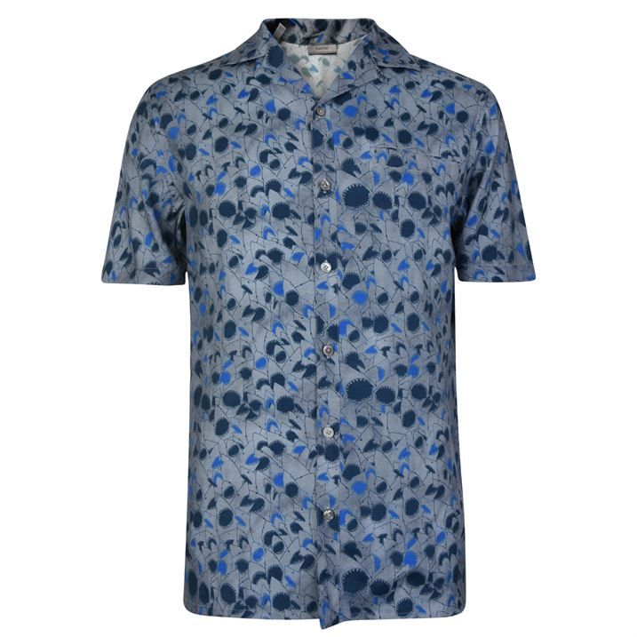 Shark Print Bowling Shirt