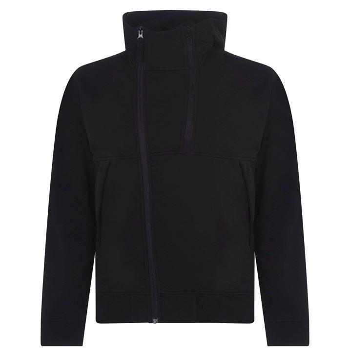 Double Front Zip Hooded Sweatshirt