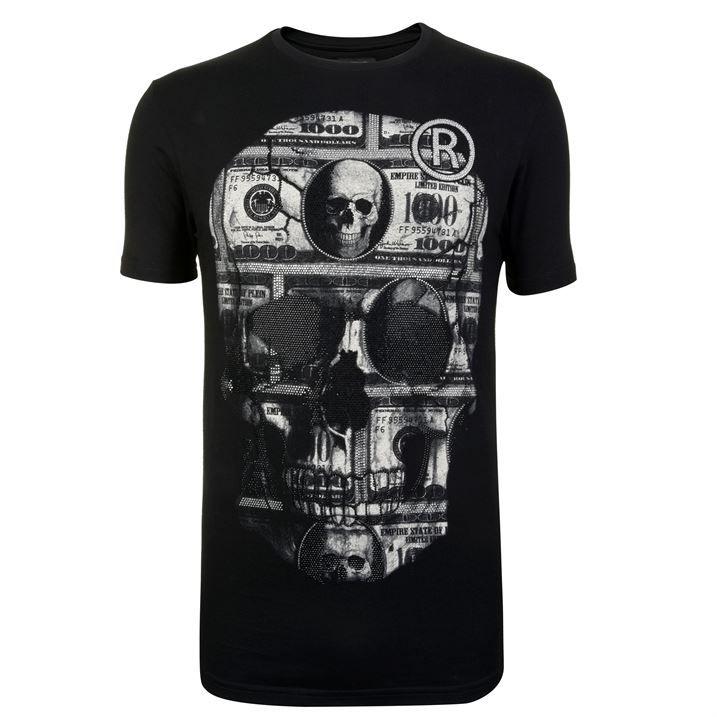 Dollar Skull T Shirt