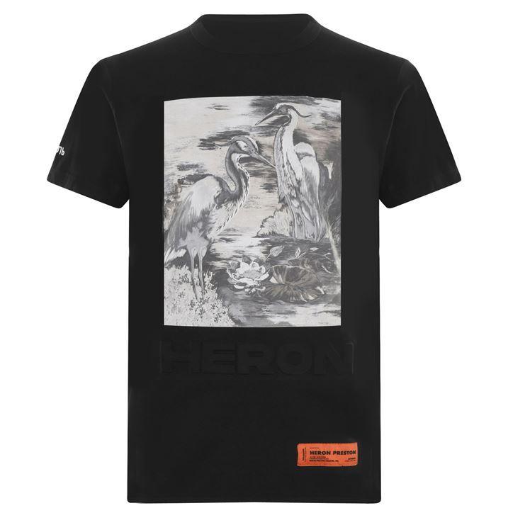 Embossed Heron T Shirt