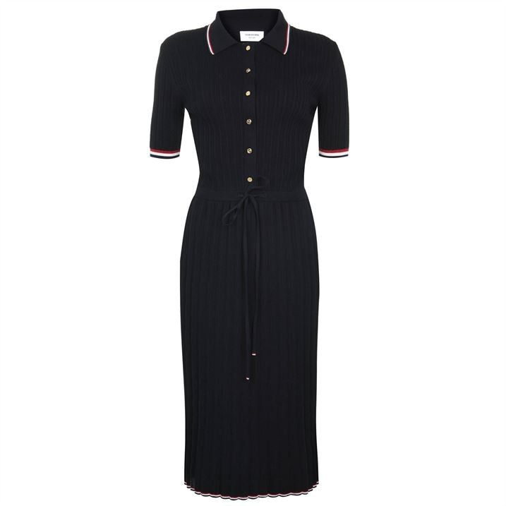 Polo Pique Midi Dress