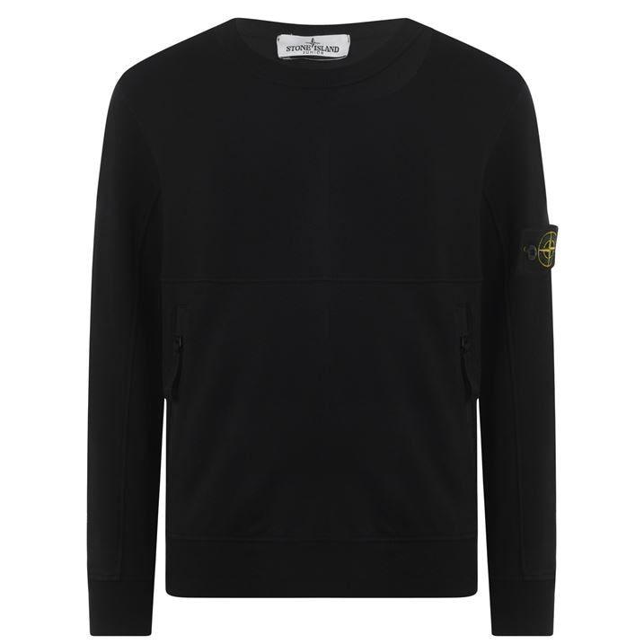 Junior Boys Badge Zip Sweatshirt