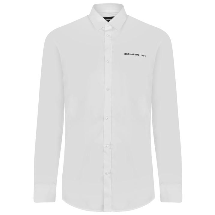 Logo Poplin Long Sleeve Shirt