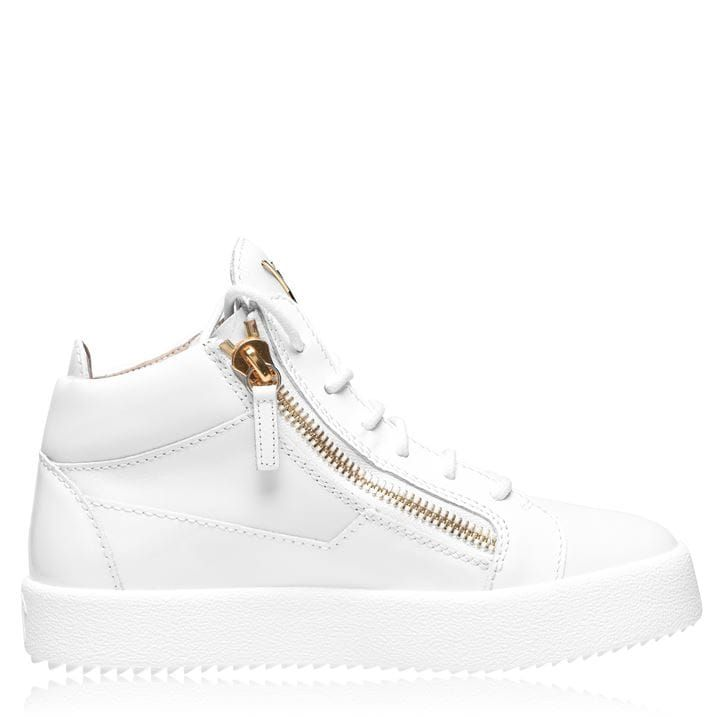 May Leather High Top Trainers