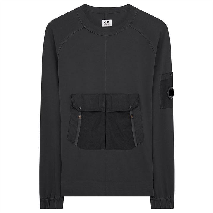 Jersey Pocket Crew Sweatshirt