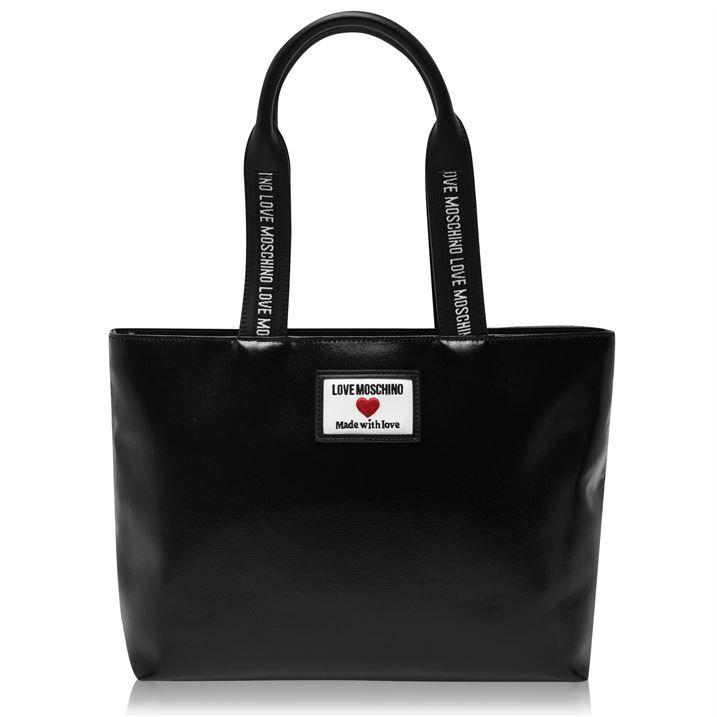 Moschino Tape Logo Shopping Bag