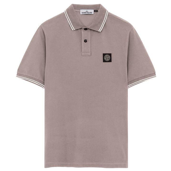 Stretch Pique Polo Shirt In Black