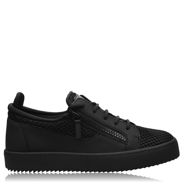 Mesh Leather Trainers