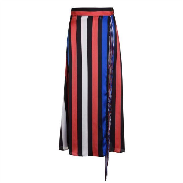 Stripe Fringe Skirt