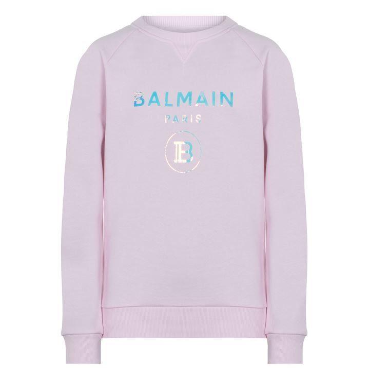 Junior Girls Iridescent Crew Neck Sweatshirt