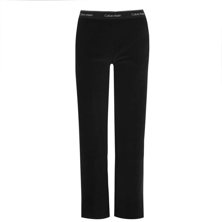 Velour Wide Leg Trousers
