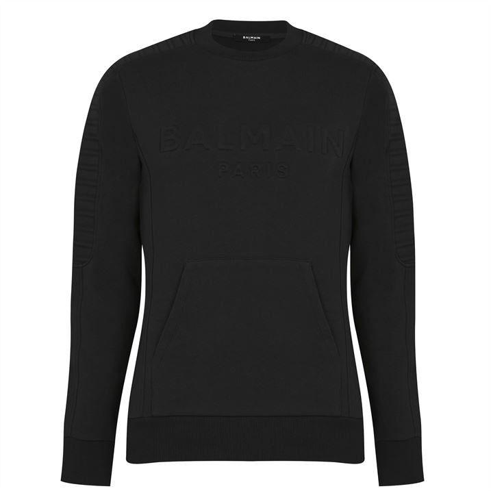 Balmain Embossed Sweatshirt Mens