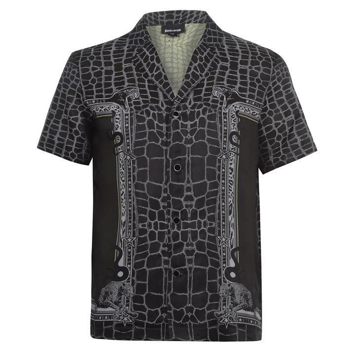 Cavalli Snake Short Sleeve Shirt