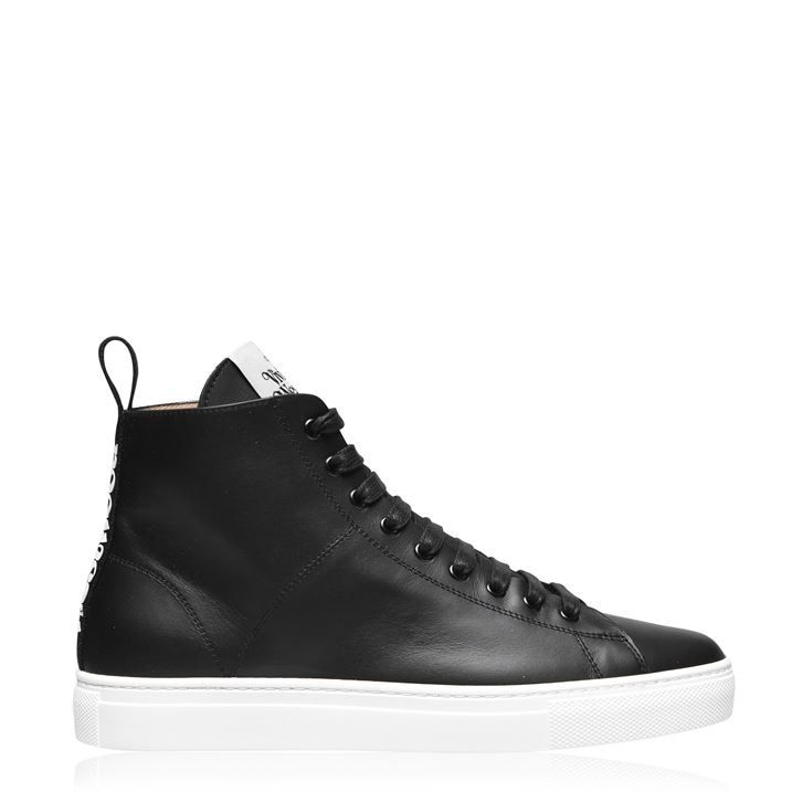 Leather High Top Trainers