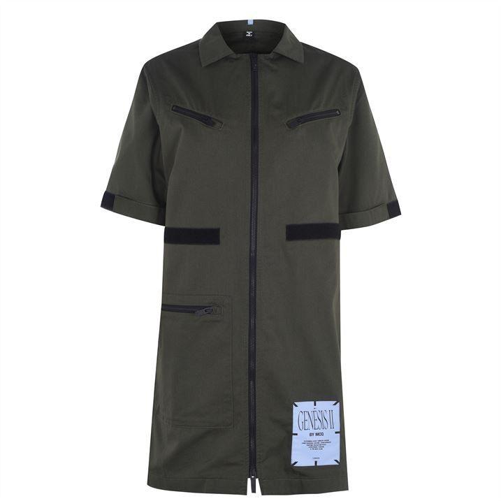 McQ Zip Shirt Dress Ld04