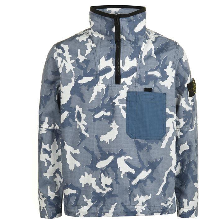 Junior Boys Camo  quarter  Zip Jacket