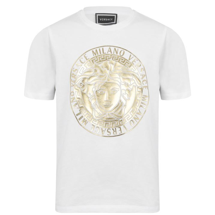 Junior Boys Gold Medusa Motif T Shirt