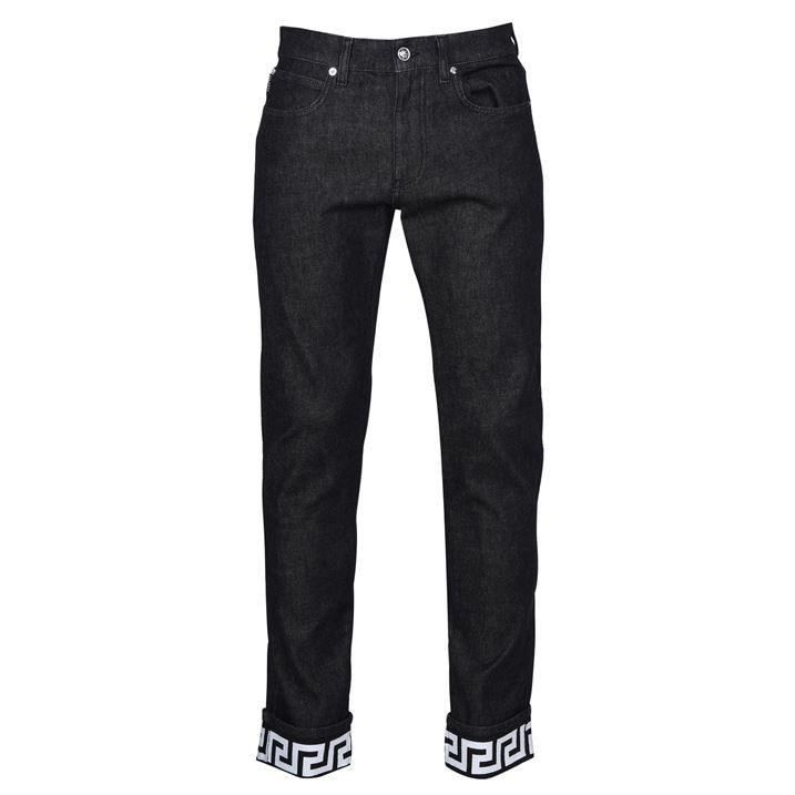 Greek Key Print Jeans