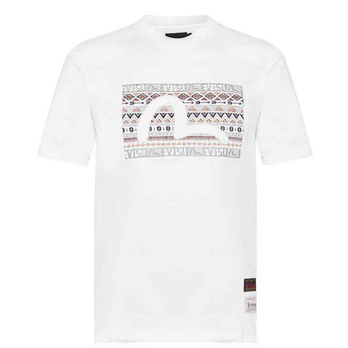 Folk Pattern T Shirt