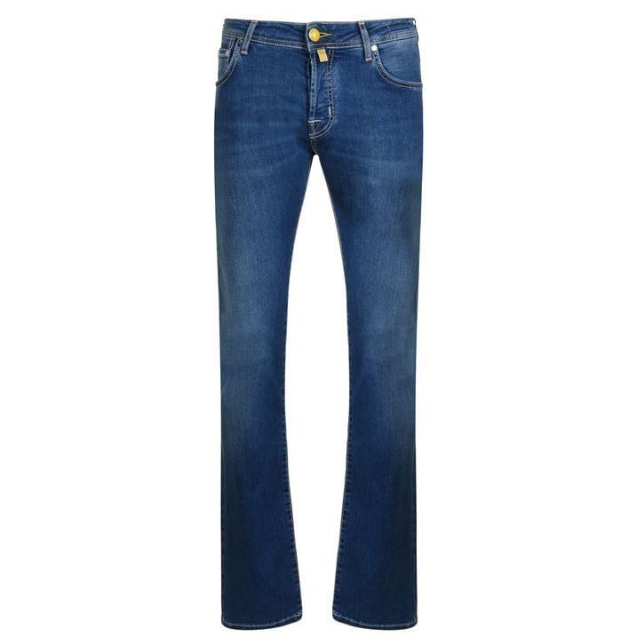 Yellow Badge Jeans