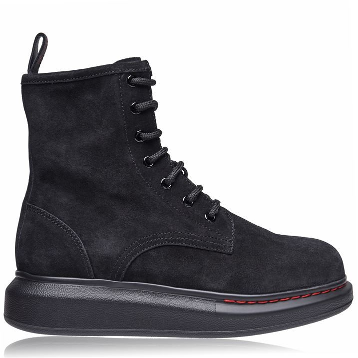 Hybrid Lace Suede Boots