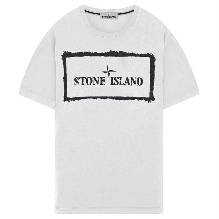 Cotton Jersey Stencil T Shirt