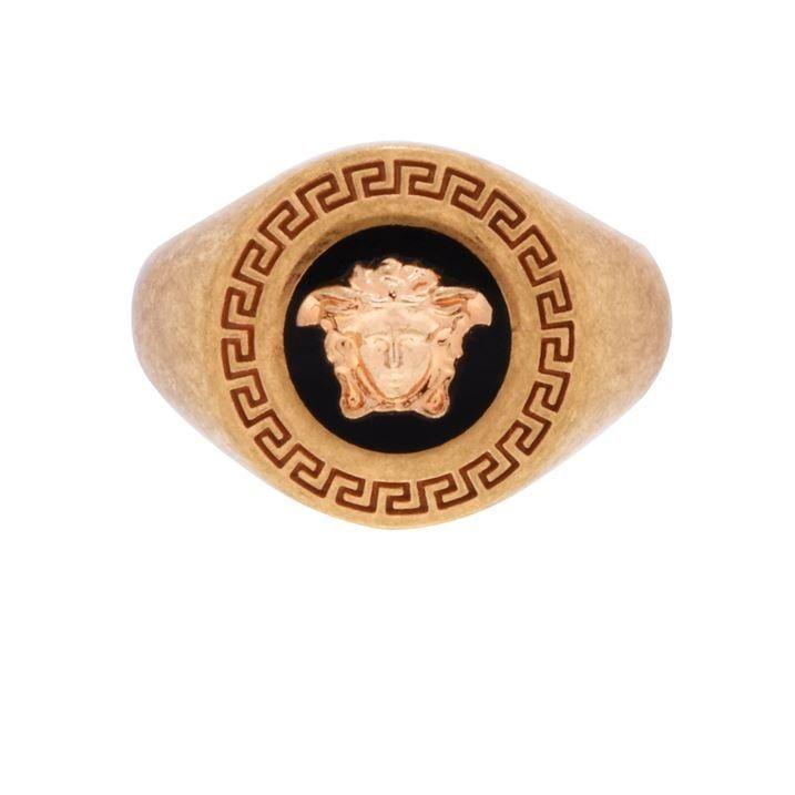 Round Medusa Signet Ring