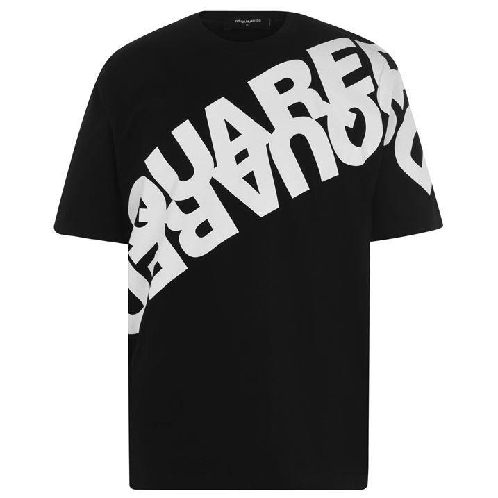 Oversized Diagonal Logo T Shirt