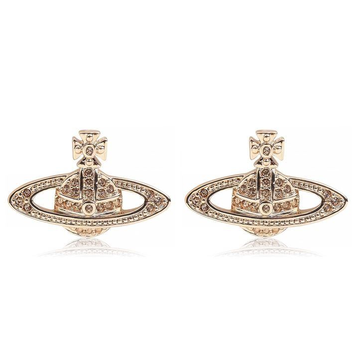 Mini Bas Relief Orb Earrings