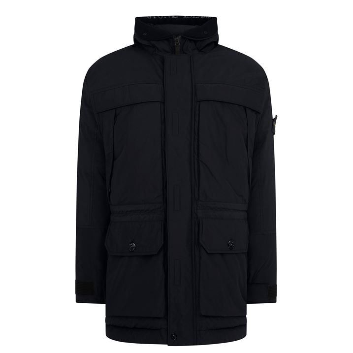 Micro Reps Down Hooded Jacket