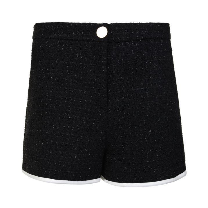 Woven Wool Shorts
