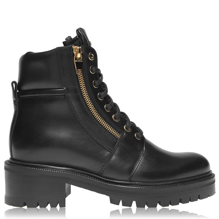 Army Leather Ankle Boots