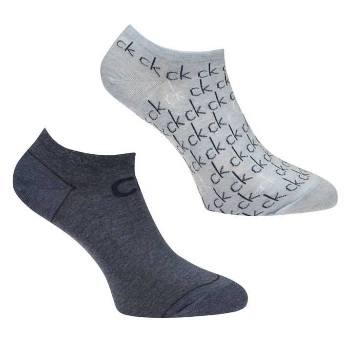Over Printed Logo 2 Pack Trainer Socks