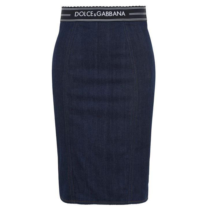 Denim Logo Tape Skirt