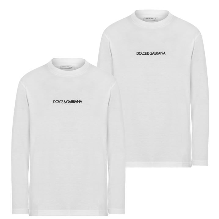 Children Boys Logo Long Sleeve T Shirt