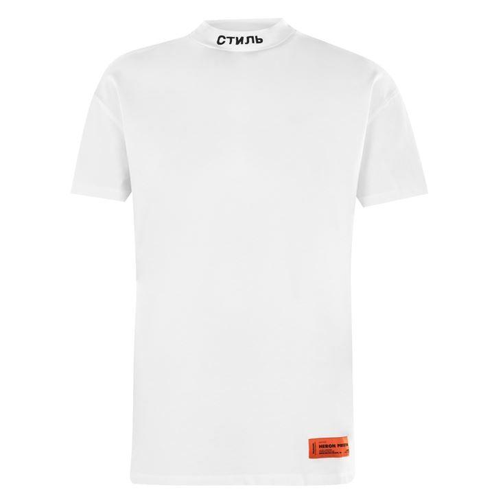 Short Sleeve Turtleneck T Shirt