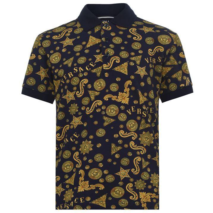Junior Boys Barocco Western Print Polo Shirt