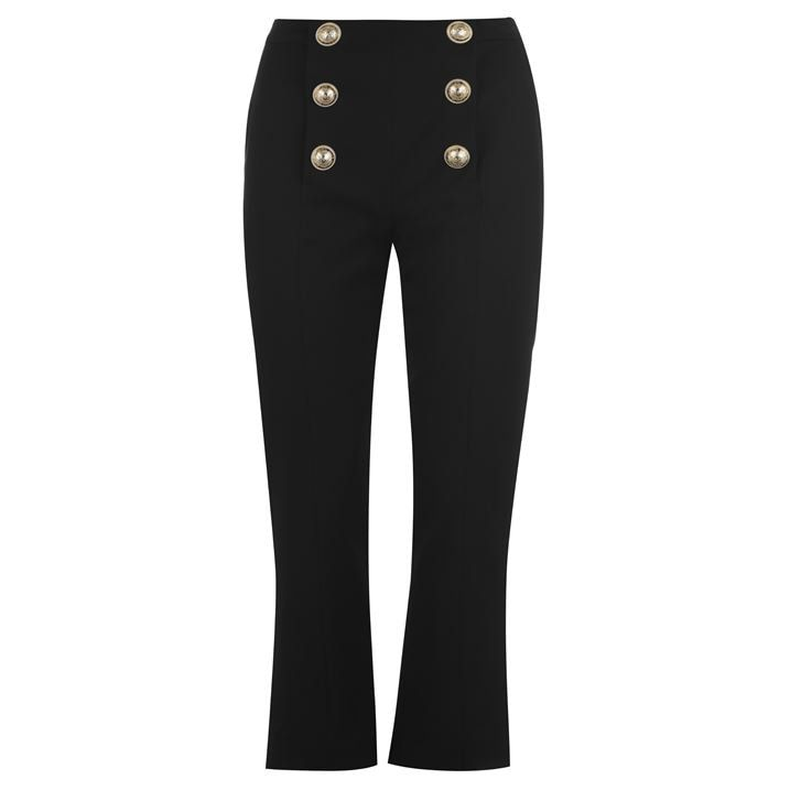 Buttoned Bootleg Trousers