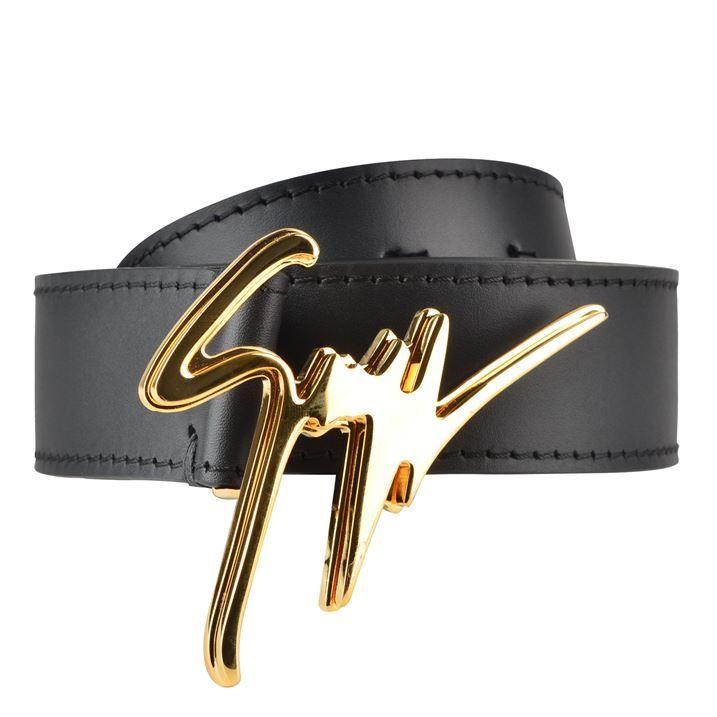 Script Logo Leather Belt