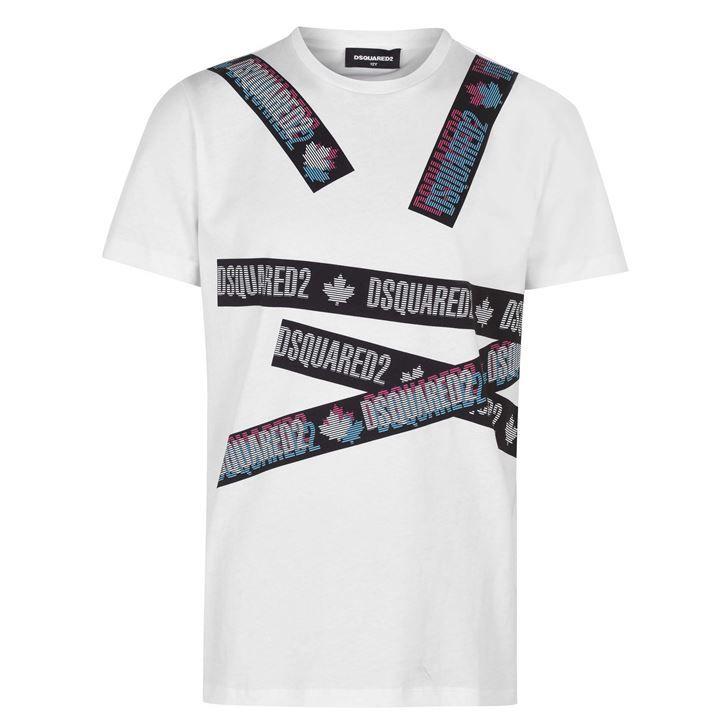 Junior Boys Tape Logo T Shirt